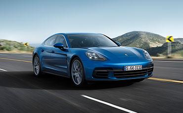 Blå Porsche